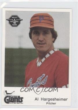 1982 The Dugout Phoenix Giants - [Base] #27 - Alan Hargesheimer