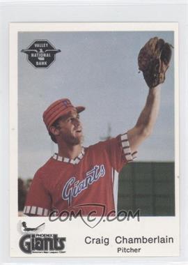 1982 The Dugout Phoenix Giants #12 - Craig Chamberlain