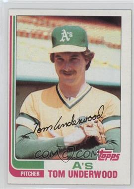 1982 Topps - [Base] #757 - Tom Underwood
