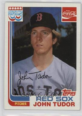 1982 Topps Coca-Cola/Brighams's Boston Red Sox - [Base] #21 - John Tudor