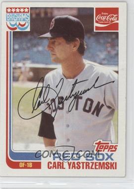1982 Topps Coca-Cola/Brighams's Boston Red Sox - [Base] #22 - Carl Yastrzemski