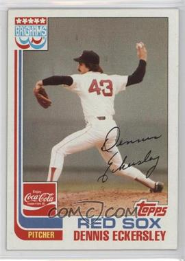 1982 Topps Coca-Cola/Brighams's Boston Red Sox - [Base] #5 - Dennis Eckersley