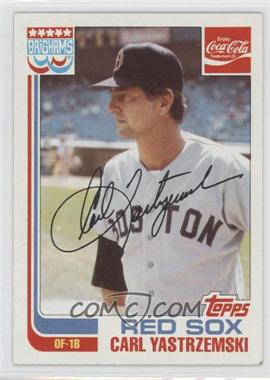 1982 Topps Coca-Cola/Brighams's Boston Red Sox #22 - Carl Yastrzemski