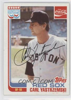 1982 Topps Coca-Cola/Brighams's Boston Red Sox #22 - Carl Yastrzemski