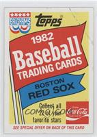 1982 Topps Special Offer
