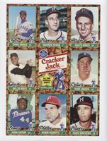 Ernie Banks, Warren Spahn, Ralph Kiner, Willie Mays, Duke Snider, Hank Aaron, R…