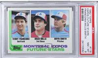 Terry Francona, Brad Mills, Bryn Smith [PSA8]