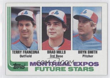 1982 Topps #118 - Terry Francona, Brad Mills, Bryn Smith