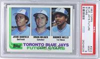 Jesse Barfield, Brian Milner, Boomer Wells [PSA9]