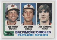 Baltimore Orioles Future Stars (Bob Bonner, Cal Ripken, Jeff Schneider) [Good&n…