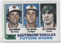 Baltimore Orioles Future Stars (Bob Bonner, Cal Ripken, Jeff Schneider)