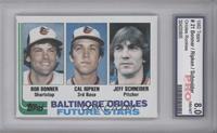 Baltimore Orioles Future Stars (Bob Bonner, Cal Ripken, Jeff Schneider) [ENCASE…