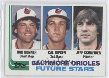 1982 Topps #21 - Bob Bonner, Cal Ripken, Jeff Schneider