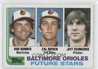 Bob Bonner, Cal Ripken, Jeff Schneider [Good to VG‑EX]