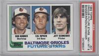 Bob Bonner, Cal Ripken, Jeff Schneider [PSA8]