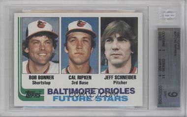 1982 Topps #21 - Bobby Bonner, Cal Ripken Jr., Jeff Schneider [BGS9]
