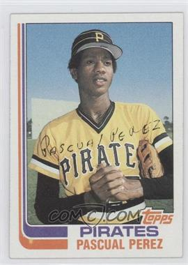 1982 Topps #383.1 - Pascual Perez (No Position on Front)