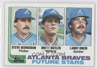 Steve Bedrosian, Brett Butler, Larry Owen