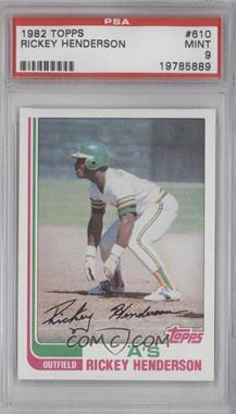 1982 Topps #610 - Rickey Henderson [PSA9]