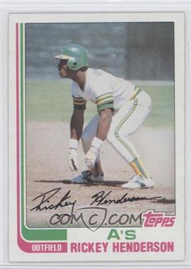 1982 Topps #610 - Rickey Henderson