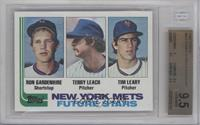 New York Mets Future Stars (Ron Gardenhire, Terry Leach, Tim Leary) [BGS 9…