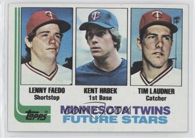 1982 Topps #766 - Lenny Faedo, Kent Hrbek, Tim Laudner