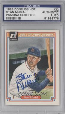 1983 Donruss Hall of Fame Heroes - [Base] #32 - Stan Musial [PSA/DNA Certified Auto]