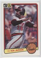 Ron Jackson (Angels in Glove on Front, Red Border)