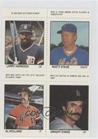 Larry Hendon, Rusty Staub, Al Holland, Dwight Evans