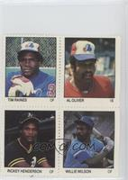 Tim Raines, Al Oliver, Willie Wilson, Rickey Henderson