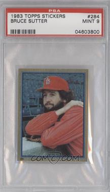 1983 Topps Album Stickers - [Base] #284 - Bruce Sutter [PSA 9]