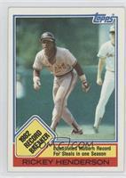 1982 Record Breaker - Rickey Henderson