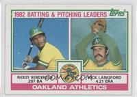 Rickey Henderson, Rick Langford
