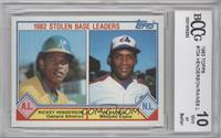 Tim Raines, Rickey Henderson [ENCASED]
