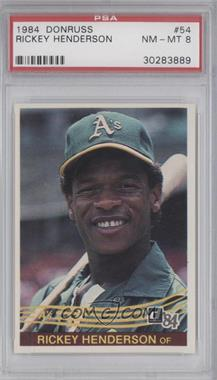 1984 Donruss - [Base] #54 - Rickey Henderson [PSA 8]