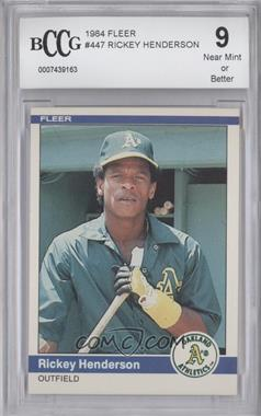 1984 Fleer #447 - Rickey Henderson [ENCASED]