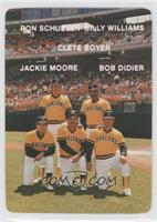 Clete Boyer, Bob Didier, Jackie Moore, Ron Schueler, Billy Williams (Oakland A'…