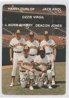 Hal Dues, Ossie Virgil, Norm Sherry, Harry Dunlop, Jack Kraus, Jack Kroll, Ozzi…