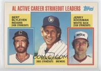 Career Leaders - AL Active Career Strikeout Leaders (Bert Blyleven, Don Sutton,…