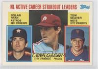 NL Active Career Strikeout Leaders (Nolan Ryan, Steve Carlton, Tom Seaver)