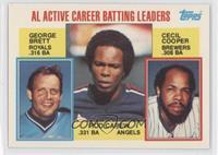 AL Active Career Batting Leaders (George Brett, Rod Carew, Cecil Cooper)