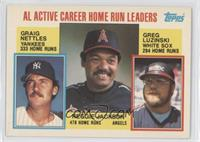 AL Active Career Home Run Leaders (Graig Nettles, Reggie Jackson, Greg Luzinski)