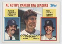 Rollie Fingers, Ron Guidry