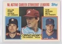 Career Leaders - NL Active Career Strikeout Leaders (Nolan Ryan, Steve Carlton,…