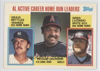 Career Leaders - AL Active Career Home Run Leaders (Graig Nettles, Reggie Jacks…