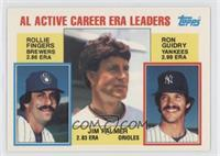 Career Leaders - AL Active Career ERA Leaders (Rollie Fingers, Ron Guidry, Jim …