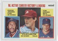 Career Leaders - NL Active Career Victory Leaders (Fergie Jenkins, Steve Carlto…