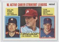 Career Leaders - NL Active Career Strikeout Leaders (Nolan Ryan, Steve Carlton,…