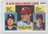NL Active Career Strikeout Leaders (Nolan Ryan, Steve Carlton, Tom Seaver)