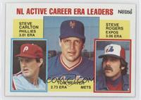 Career Leaders - NL Active Career ERA Leaders (Steve Carlton, Tom Seaver, Steve…